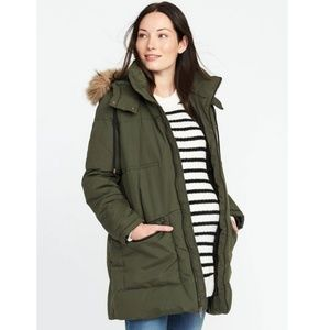 Old Navy Maternity Puffer Coat [Hooded]